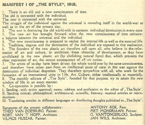 Manifest_I, De_Stijl, 1918