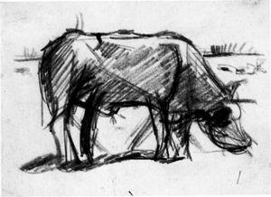 Theo van Doesburg, Skizze Kuh, 1918
