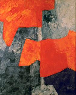 Serge_Poliakoff_Composition_grise_et_rouge_1964